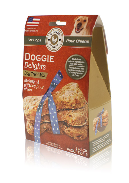 Davison Produced Product Invention: Doggie Delights Dog Treat Mix – Chicken