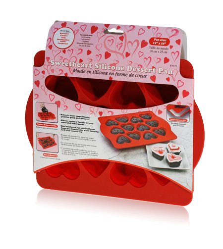 Davison Produced Product Invention: Sweetheart Silicone Dessert Pan