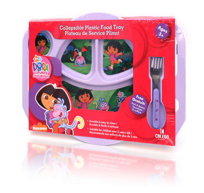 Davison Produced Product Invention: Dora Explorer Collapsible Plastic Food Tray