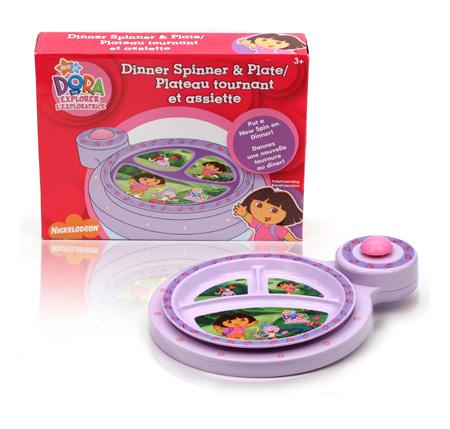 Davison Produced Product Invention: Dora Explorer Dinner Spinner & Plate