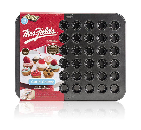 Final Manufactured Product for Davison Produced Product Invention Cutie Cakes™ Baking Pan – Mrs. Fields