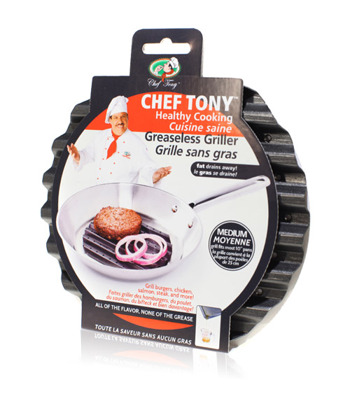Davison Produced Product Invention: Chef Tony – Greaseless Grillers