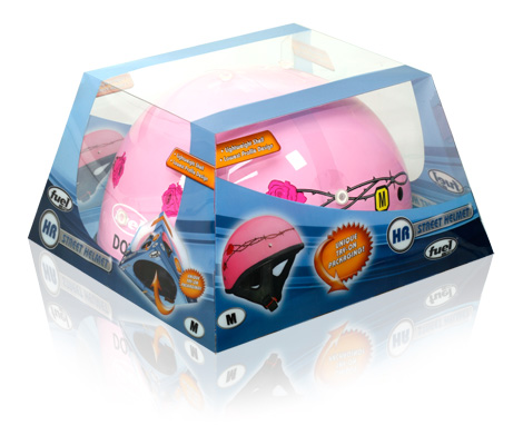 Davison Produced Product Invention: Fuel Helmet Packaging (Pink)
