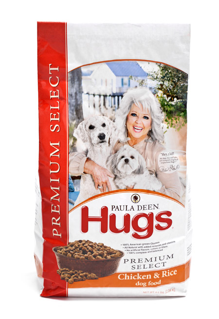 Final Manufactured Product for Davison Produced Product Invention Paula Deen® Hugs® Dog Food
