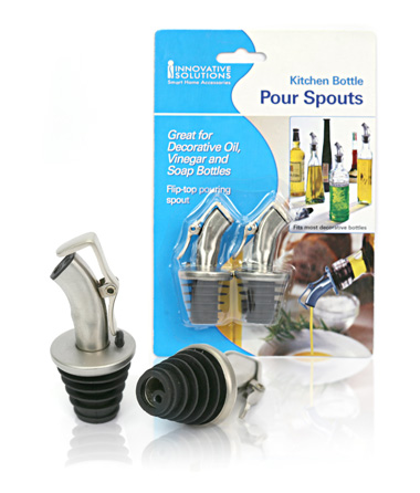 Davison Produced Product Invention: Kitchen Bottle Pour Spouts
