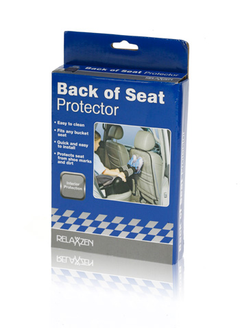 Davison Produced Product Invention: Back of Seat Protector Packaging