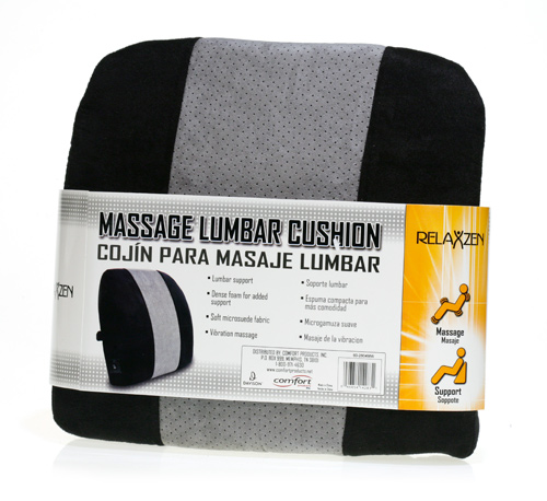 Davison Produced Product Invention: Massage Lumbar Cushion Packaging