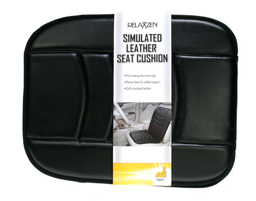 Davison Produced Product Invention: Simulated Leather Seat Cushion Packaging