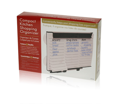 Davison Produced Product Invention: Compact Kitchen Shopping Organizer