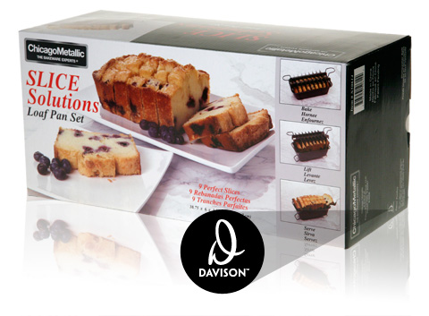 Davison Produced Product Invention: Slice Solutions Loaf Pan Set Packaging