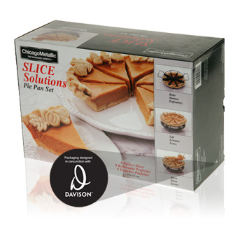 Davison Produced Product Invention: Slice Solutions Pie Pan Set Packaging