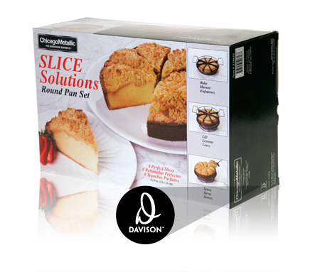 Davison Produced Product Invention: Slice Solutions Round Pan Packaging