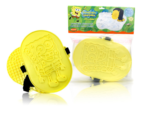 Davison Produced Product Invention: Sponge Bob Snow Stamp
