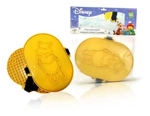 Final Manufactured Product for Davison Produced Product Invention Pooh Snow Stamp