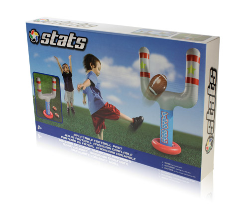 Davison Produced Product Invention: Stats Inflatable Football Post