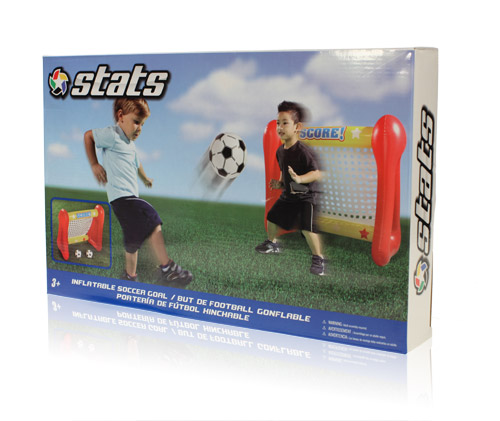 Final Manufactured Product for Davison Produced Product Invention Stats Inflatable Soccer Goal