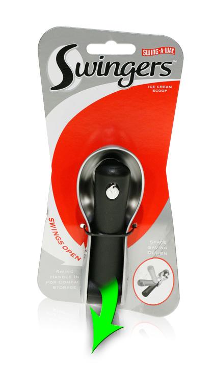 Davison Produced Product Invention: Swingers Ice Cream Scoop