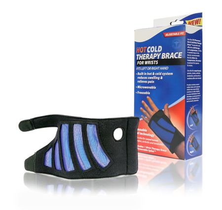 Davison produced product invention: Hot / Cold Therapy Brace for Wrists