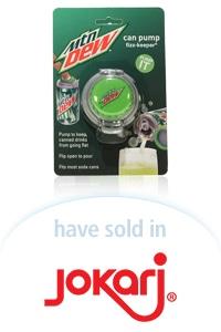 Davison Designed Product Idea: Can Pump - Mountain Dew