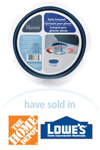 Davison Designed Product Idea: Spin 'n Store Parts Carousel