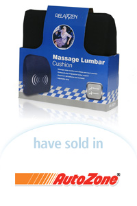 Davison Designed Product Idea: Massage Lumbar Cushion Packaging