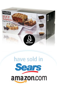 Davison Designed Product Idea: Slice Solutions Loaf Pan Set  Packaging
