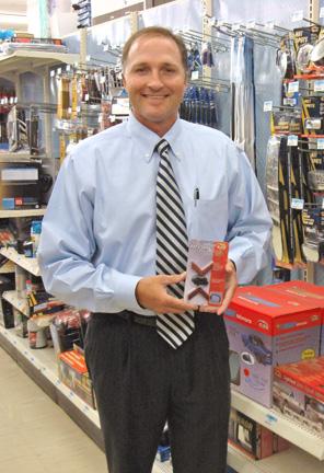 George Davison with Davison produced product idea: Add-A-Signal