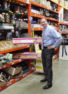 George Davison with Davison produced product idea: Adjustable Overhead Storage System