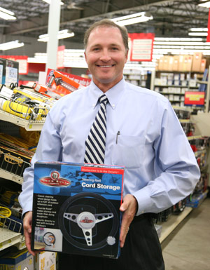 George Davison with Davison produced product idea: Steering Reel Cord Storage