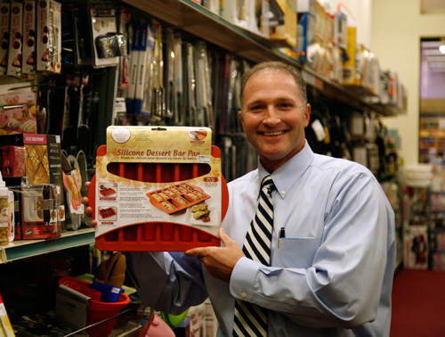 George Davison with Davison produced product idea: Silicone Dessert Bar Pan