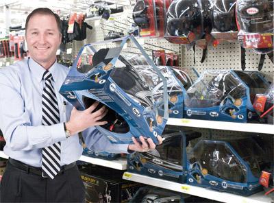 George Davison with Davison produced product idea: Fuel Helmet Packaging