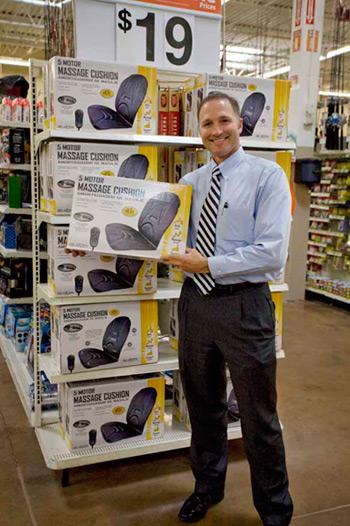 George Davison with Davison produced product idea: Relaxzen Seat Cushion Packaging