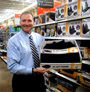 George Davison with Davison produced product idea: Gel Seat Cushion Packaging