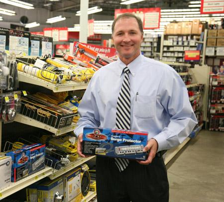 George Davison with Davison produced product idea: Straight 6 Surge Protector