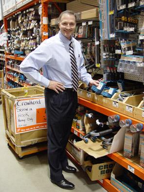 George Davison with Davison produced product idea: Tape Measure Holder