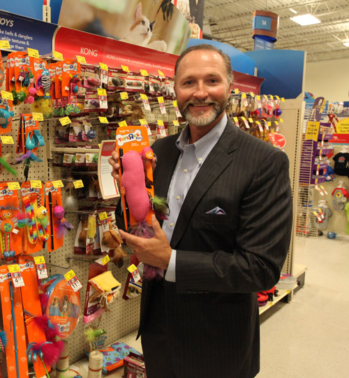 "George Davison with Davison produced product idea: Toys ""R"" US Pets Dangle Toy"