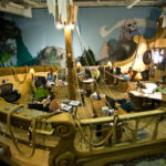 Animating in a Pirate Ship at Inventionland, where ideas become inventions