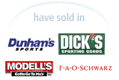 The BikeBoard has sold in Dunham Sports, FAO Schwarz, Dick Sporting Goods, Modell's and more!