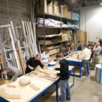 Designers in Woodshop developing a prototype