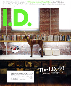 Davison's work environment featured in I.D Magazine