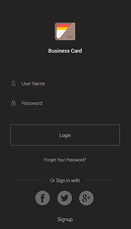 Davison Designed App Idea: Business Card Simple