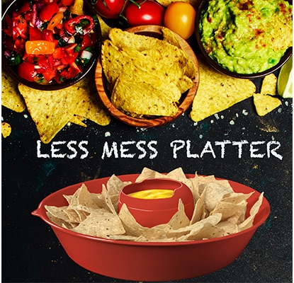 Davison New Invention: Less Mess Platter