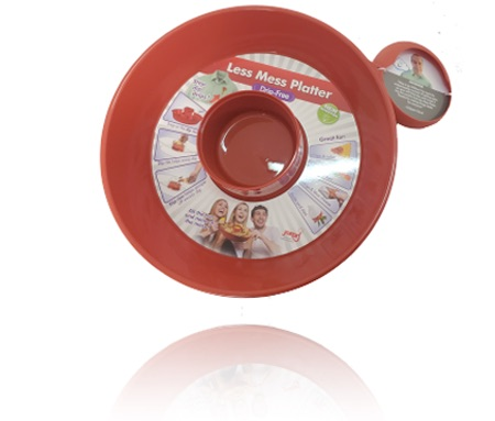 Davison Produced Product Invention: Less Mess Platter